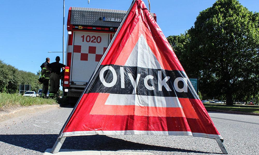 Singelolycka på Ekersvägen-Arkivbild-Trafikolycka
