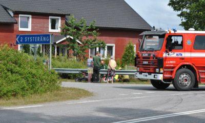 Singelolycka med cross-motorcykel i Vretstorp
