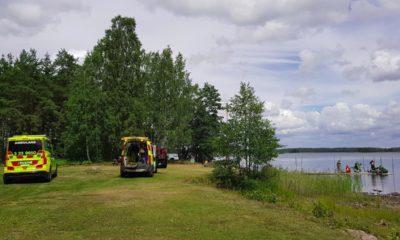 Drunkningstillbud vid Badviken i Svennevad