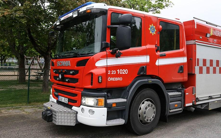 Räddningstjänsten-Mopedbrand