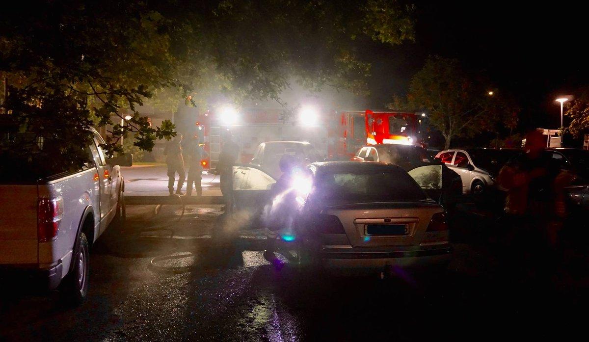 Bilbrand på Östra Vintergatan-Rosta