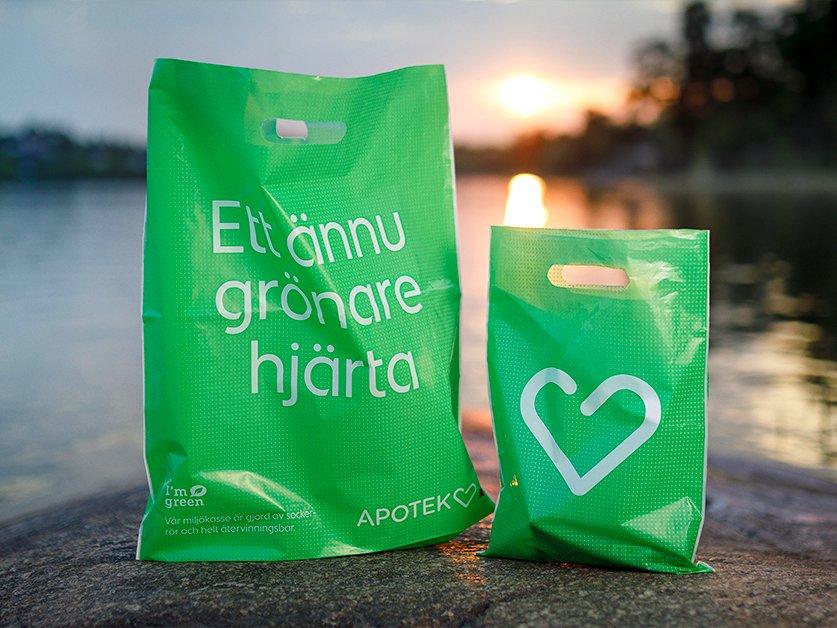 Apoteket Hjärtat-Plastpåse