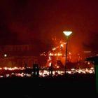 Moské i Örebro brinner