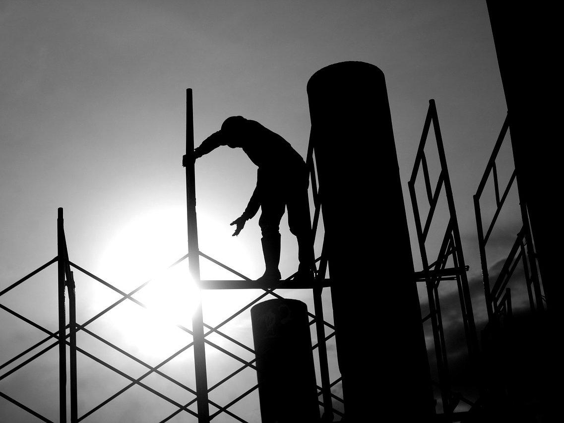 Bygge-Arbete-Ställning