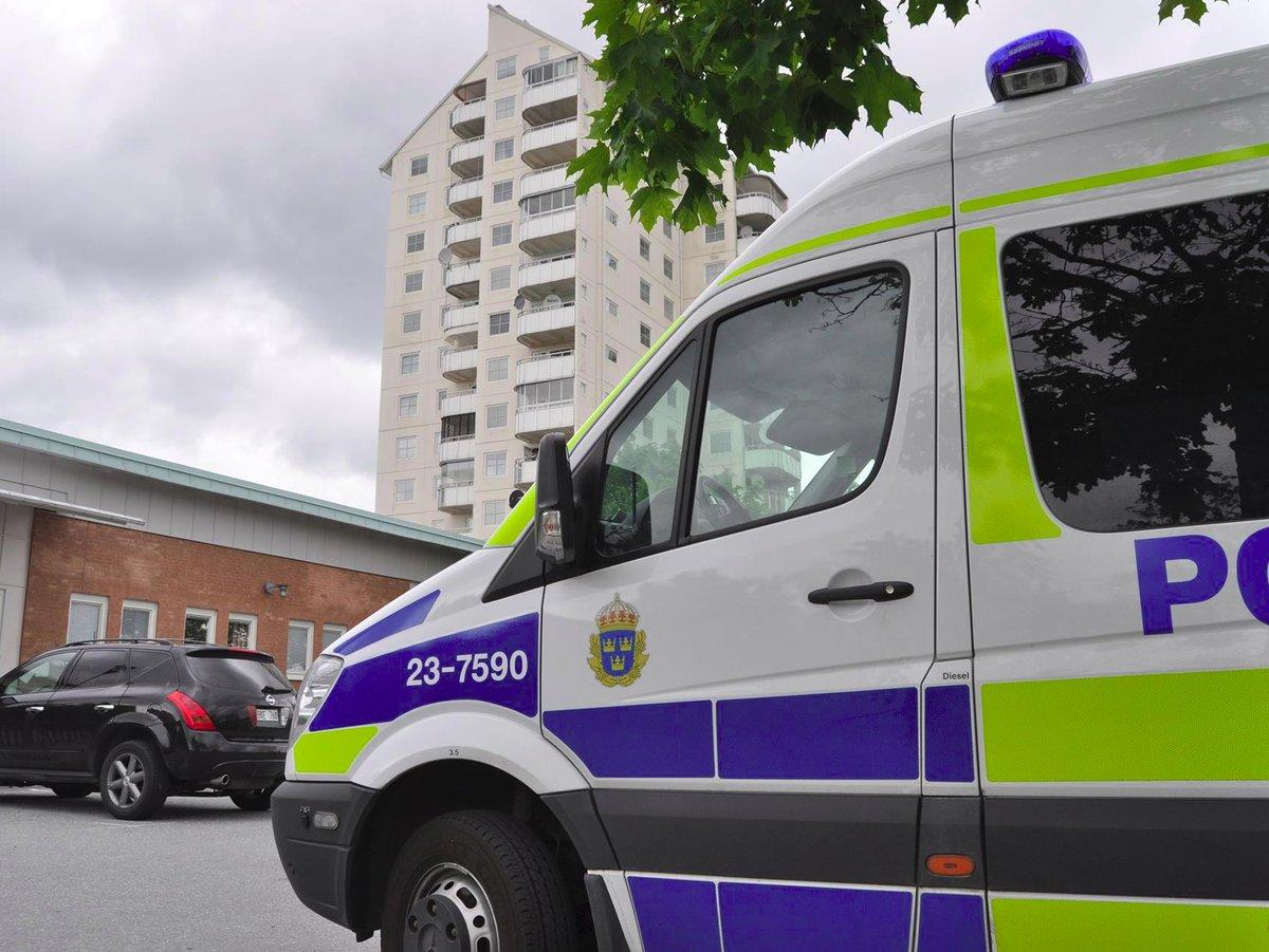 Polis-Vivalla-Centrum-Arkivbild-Pressbilden