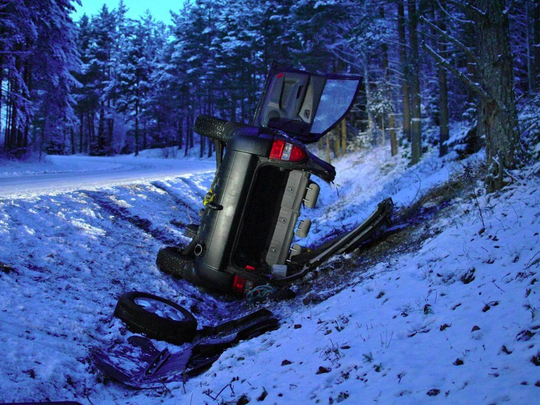 Trafikolycka vid Dunsjö utanför Askersund