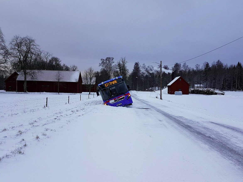 Länstrafiken - Buss i diket - Skyllberg