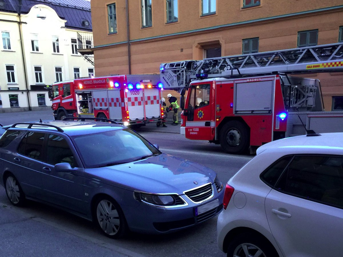 Lägenhetsbrand på Karslundsgatan i Örebro