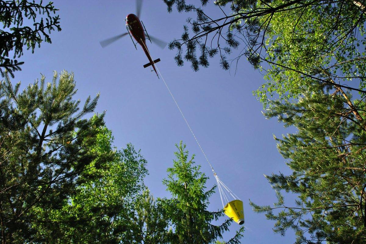 Skogsbrand-Helikopter