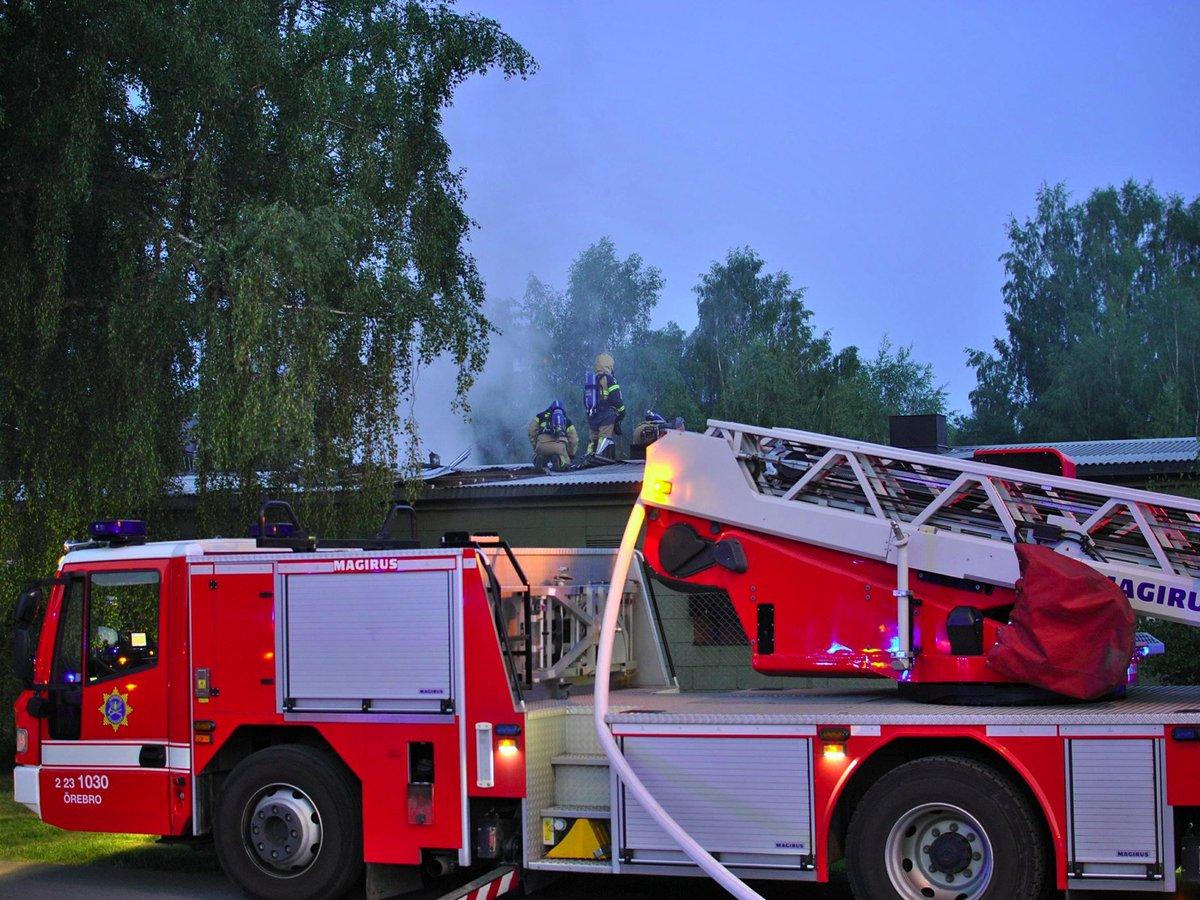 Hallsberg-Brand i byggnad