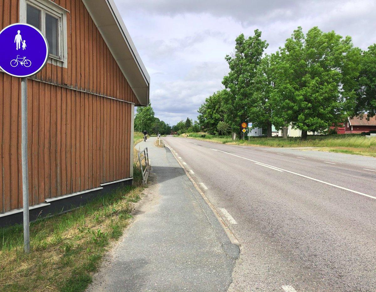 Cykelbana intill Ekersvägen