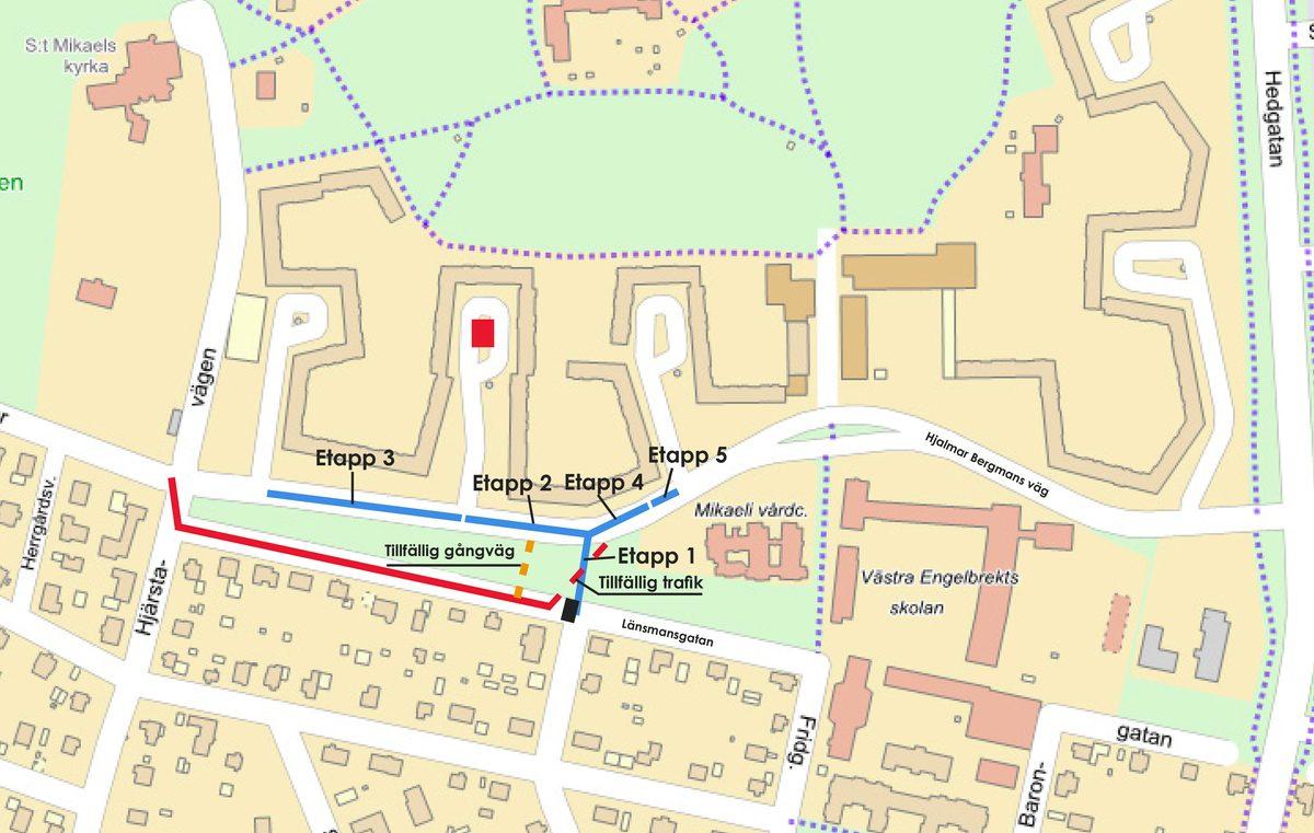 Karta - Hjalmar Bergmans väg