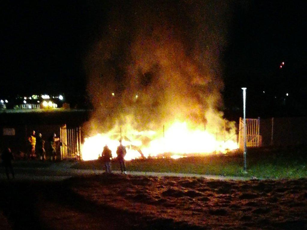 Brand i omklädningsrum mellan Vivalla-Lundby