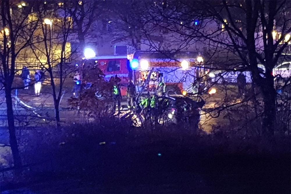 Trafikolycka i Markbacken