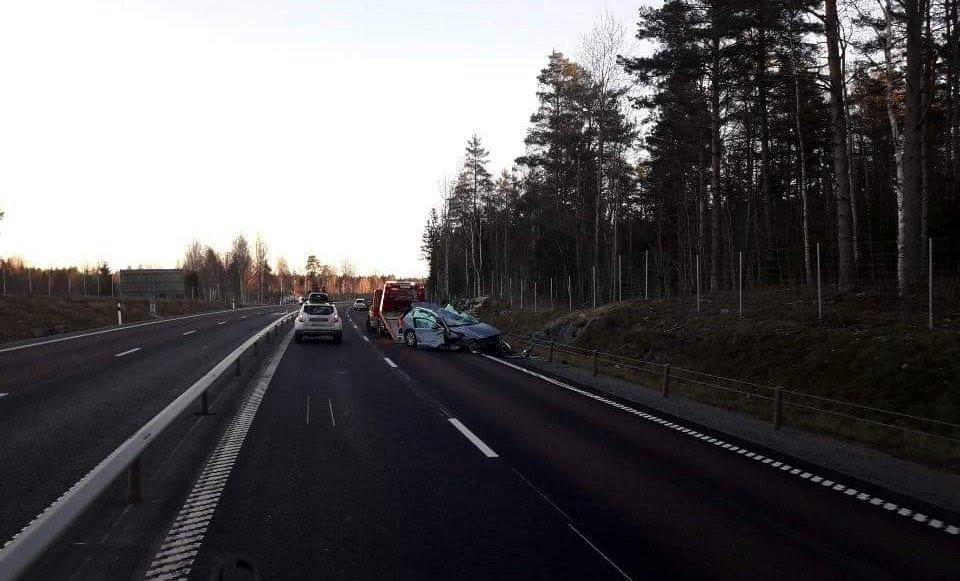 Trafikolycka på riksväg 50 i höjd med Ingelsby