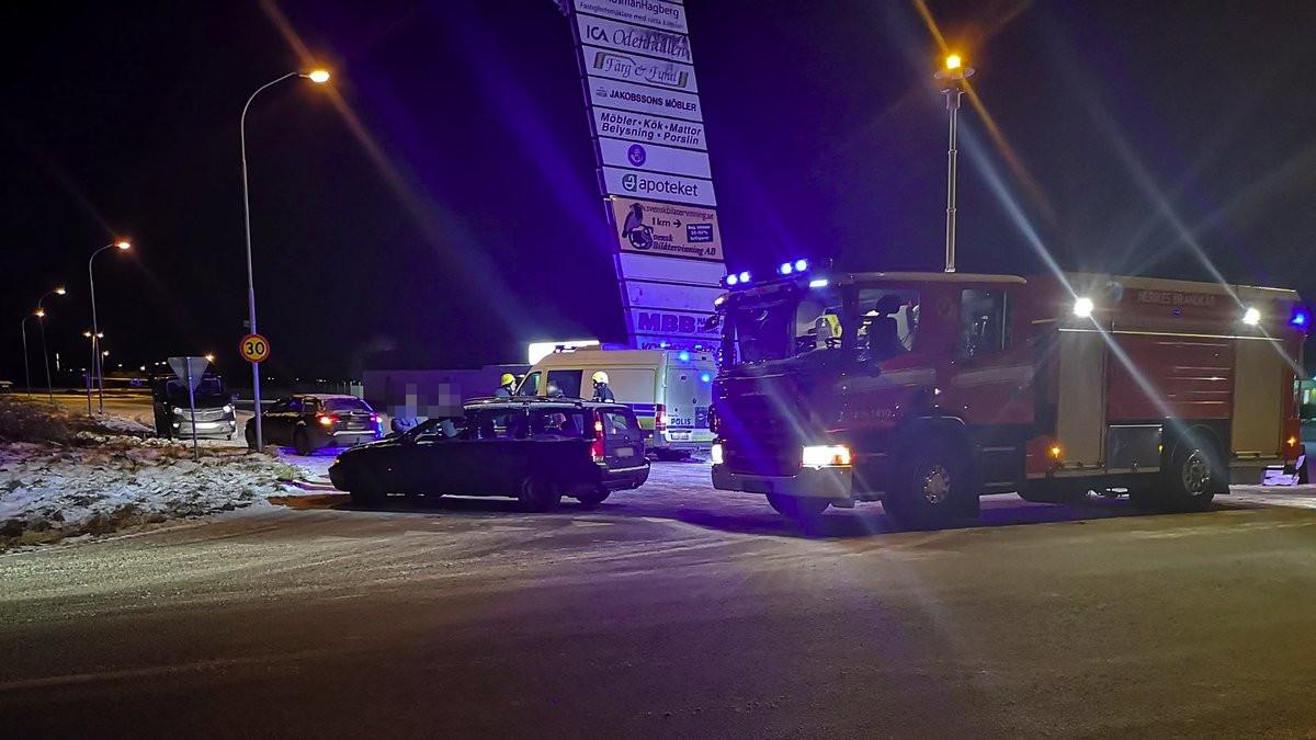 Fanérvägen i Odensbacken - Trafikolycka