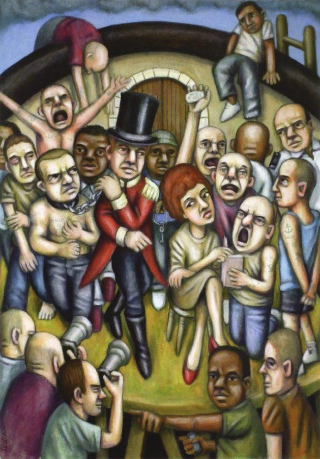 Konstverk från utställningen Mellan oss och dem - samarbete med Art and prison.