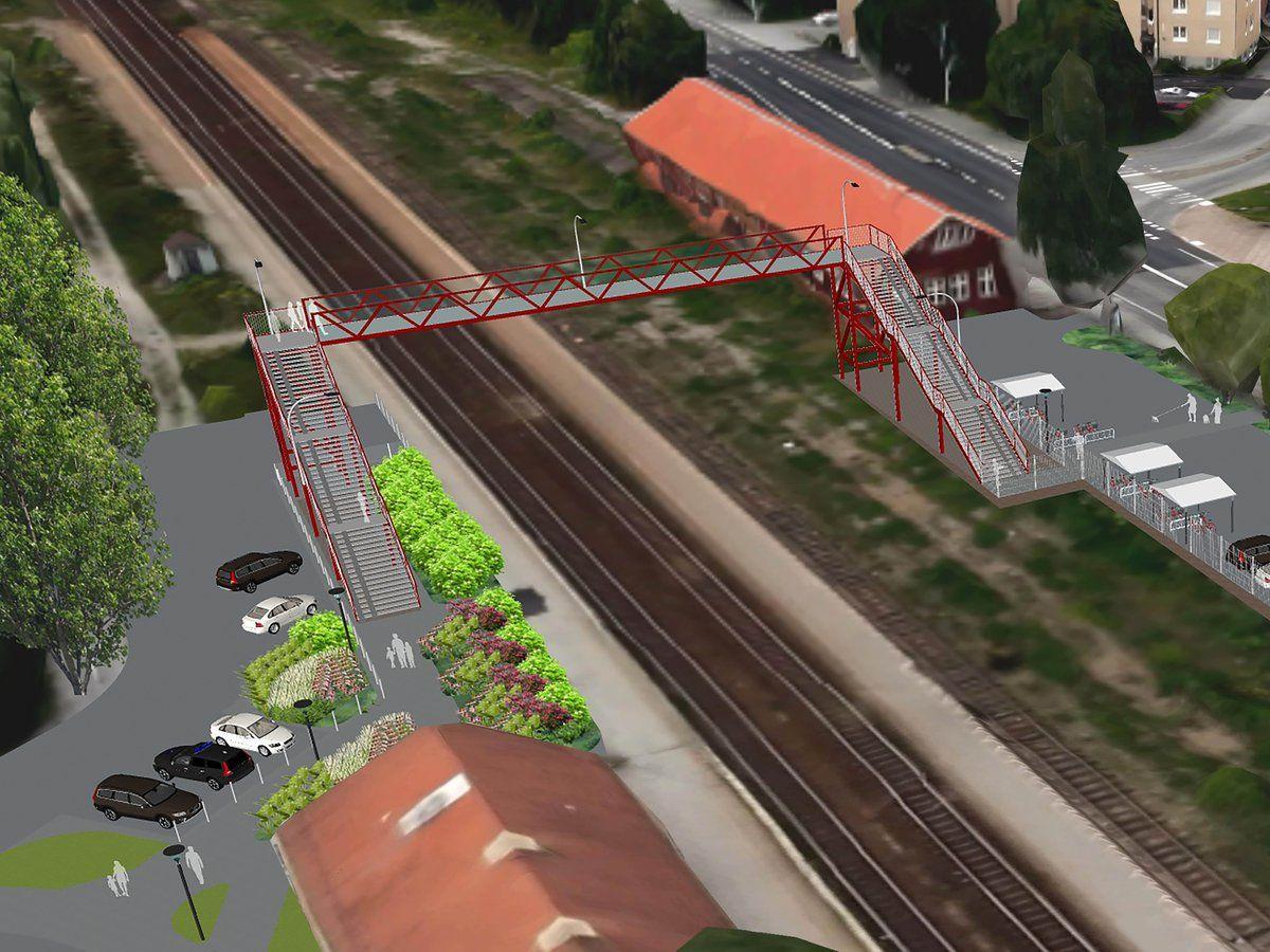 Skiss på bron över Örebro Södra