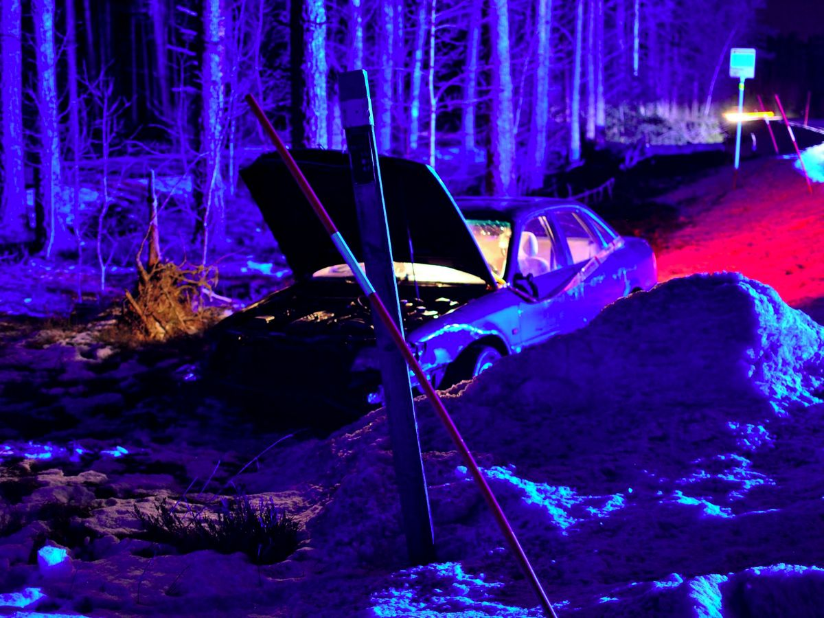 Trafikolycka mellan Tomta och Åsbro.